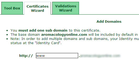 add subdomain ssl