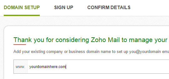 zoho put your domain here