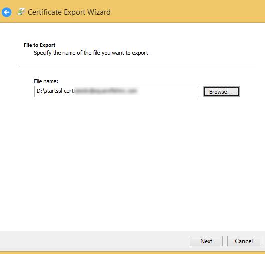 export ssl cert path